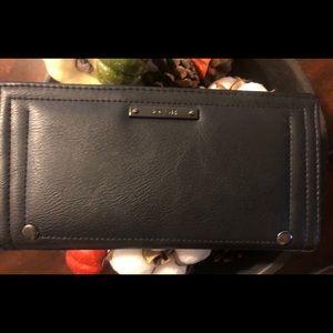 Joe's Jeans Black women's leather wallet